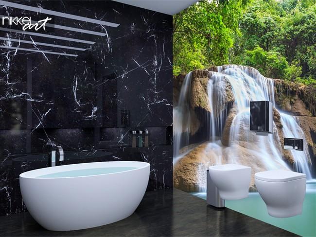 Fotobehang met watervallen